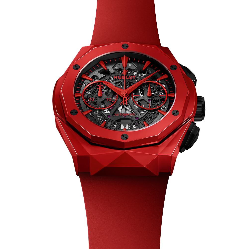 Orologi Replica Hublot Classic Fusion Chronograph Orlinksi Red Ceramic